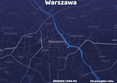Cena metra kwadratowego - Warszawa - czerwiec 2021