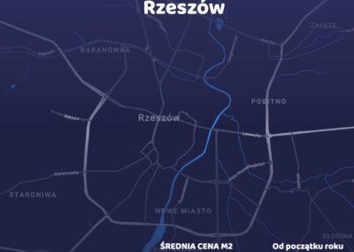 Cena metra kwadratowego - Rzeszów - czerwiec 2021