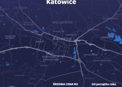 Cena metra kwadratowego - Katowice - czerwiec 2021